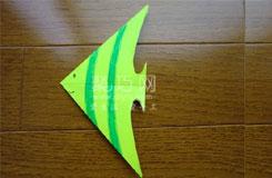 折纸热带鱼之天使鱼折叠方法图解教程