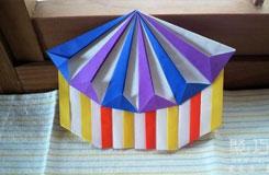 折紙馬戲團小屋的做法 手工制作立體房子