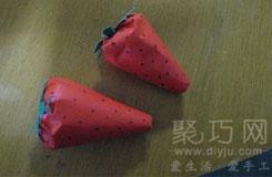 草莓折法:怎么折草莓 立體草莓折紙圖解教程