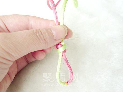 中国结之酢浆草花结编法图解第1步