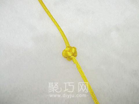 中國結之單線紐扣結欣賞圖