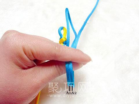 中國結疊翼盤長結徒手編法圖解3