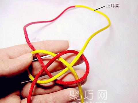 中国结编法图解之简单宽网目结编法教程