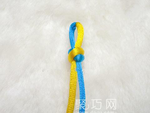 中国结之宝结二宝3套结的编法步骤1