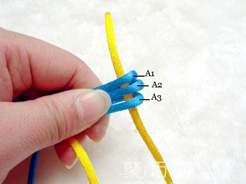 中国结之宝结二宝3套结的编法步骤4