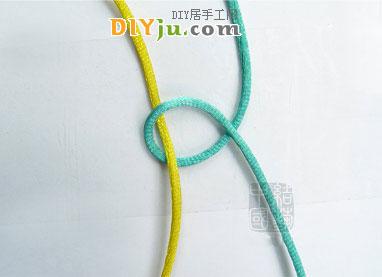 蛇結編法圖解第2步