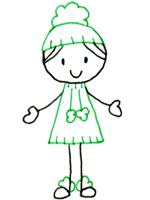 時尚人物畫法例4