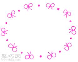蝴蝶結與圓點交替