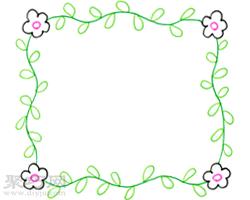 四角用花葉子連接