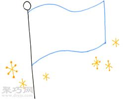 閃閃發光的旗幟