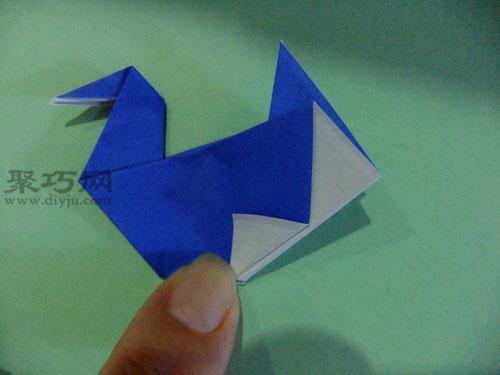 儿童简单折纸水鸟的折法 水鸟怎么折