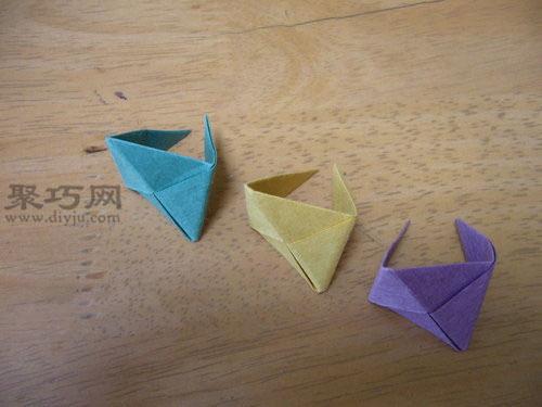 超可爱的立体三角形折纸图解