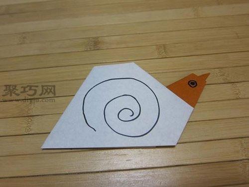蜗牛的简易画法步骤