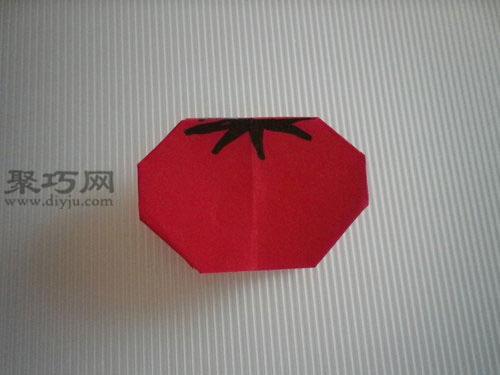 折平面紙西紅柿欣賞