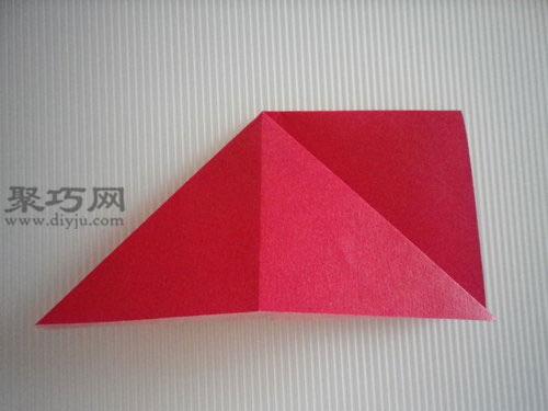 折平面紙西紅柿圖解4