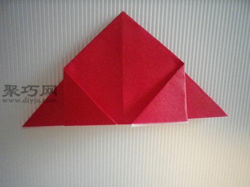 折平面紙西紅柿圖解6