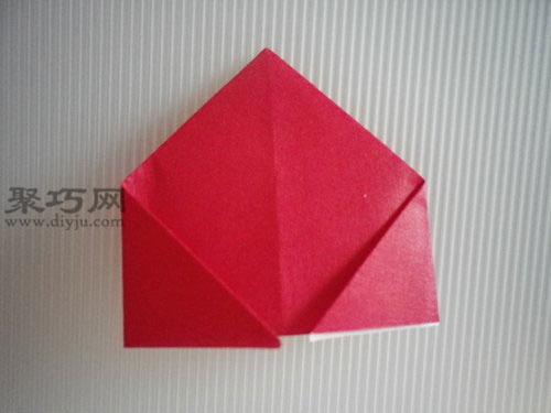 折平面紙西紅柿圖解7