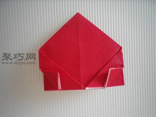 折平面紙西紅柿圖解8