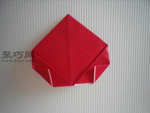 如何折平面纸西红柿图解教程 折纸番茄