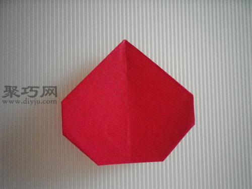 折平面紙西紅柿圖解10