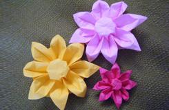 教你如何折紙花:太陽花折紙圖解