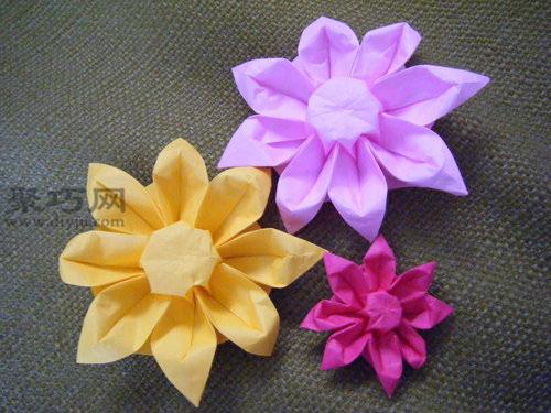 教你如何折纸花:太阳花折纸图解