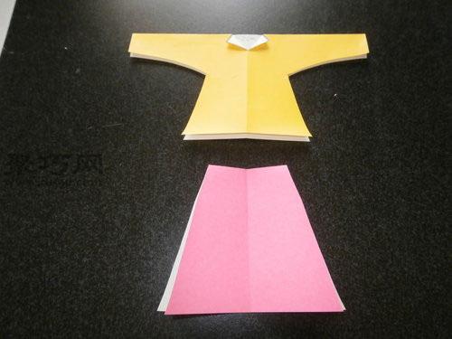 折纸换装娃娃步骤1
