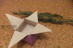用纸折礼品盒的折法 diy折纸礼品盒教程