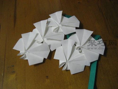 简单折纸蝴蝶兰方法图解