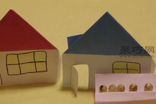 三角顶小房子折纸图解教程