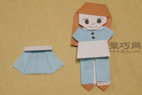 装娃娃折纸图解教程
