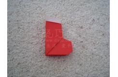 手工折纸靴子 红色圣诞老人靴子折纸教程