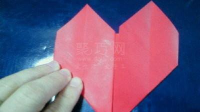 心形折纸:情人节折爱心的步骤图解