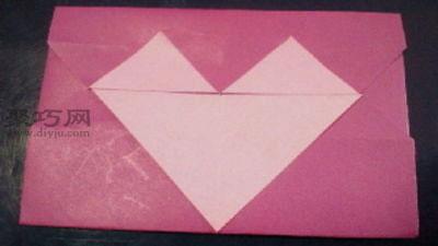 简单心形信封的折法 心形信封折纸图解教程