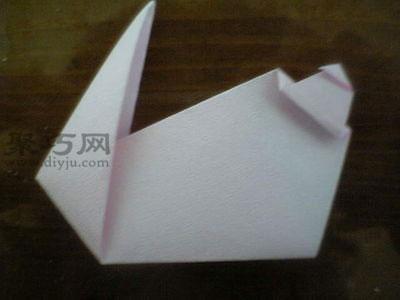 折立体纸兔子的折法图解