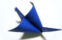 翅膀會動的千紙鶴的折法圖解教程