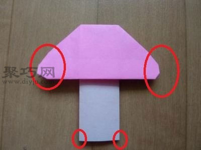蘑菇的折法教案图解 教你怎么折纸蘑菇