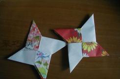 手工折纸飞镖的折法图解 来看怎么折忍者飞镖