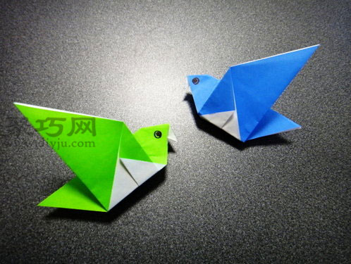 方法,如果你希望自己的折纸王国中多只可爱的小鸟