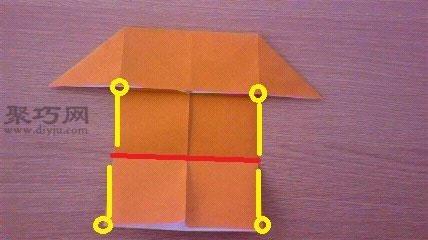 超简单折纸房子
