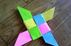 纸手里剑折纸图解教程 飞镖手里剑怎么折