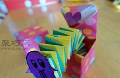 折纸能动的弹簧盒子 教你怎么折纸弹簧