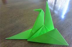 折紙鶴的方法圖解折一只象征和平的綠色千紙鶴