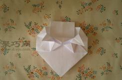 心形信封折疊方法 如何用紙疊心形信封