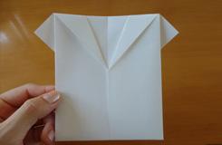 衣服折纸教程 简单折纸衬衫步骤图解