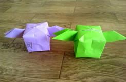 带翅膀气球折纸方法图解教程 怎么折纸带翅膀气球