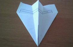 最簡單的紙飛機的折疊方法圖解教程