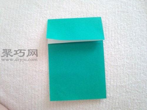 紙青蛙折紙步驟3