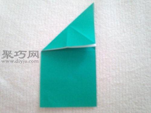 會跳的紙青蛙折紙步驟1