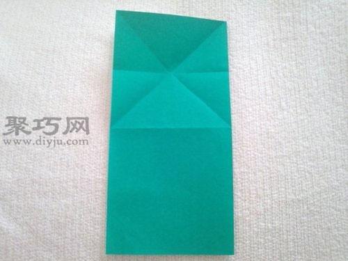 會跳的紙青蛙折紙步驟2